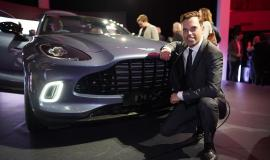 Economy Minister Ken Skates with the Aston Martin DBX
