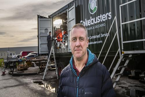 Man outside Cokebusters trailer