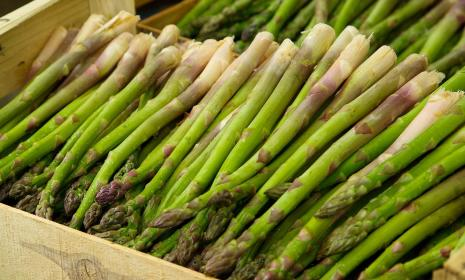 A box of asparagus