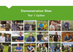Demonstration Sites - Year 1 Update
