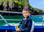 Boy on boat trip