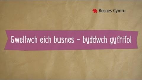 Gwellwch eich busnes