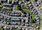An aerial view of a Welsh housing estate.