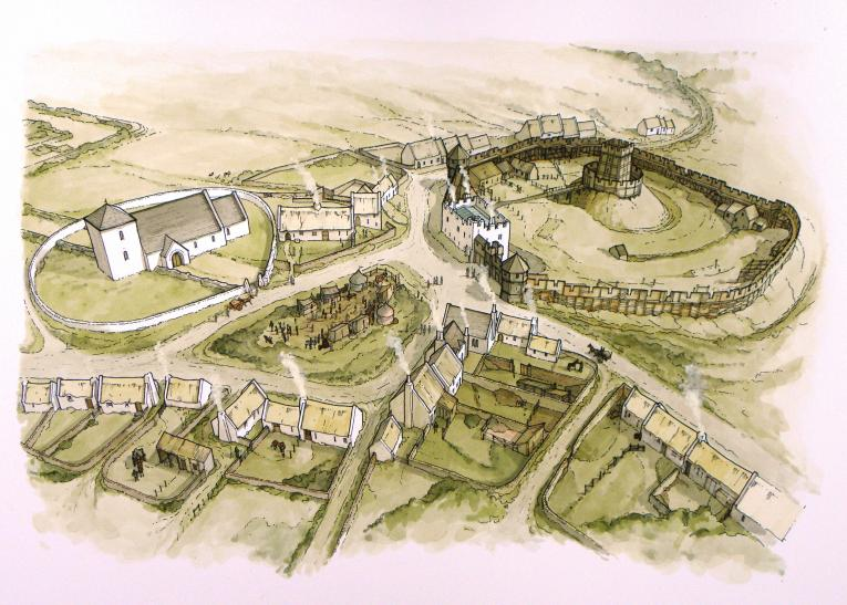 Village of Gelligaer in 1318