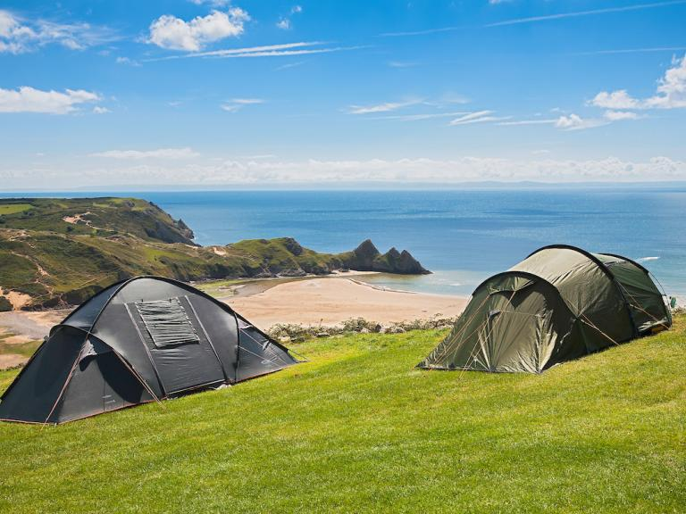 Tents Three Cliffs Bay