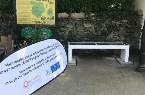 Rural Conwy LEADER Programme installs first Steora benches in the UK